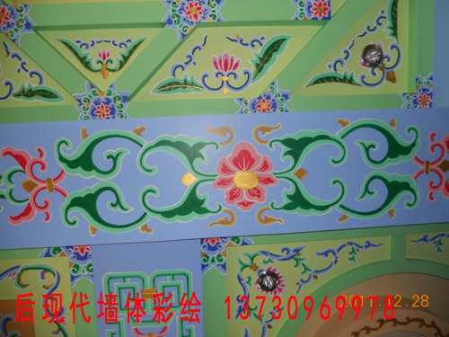 中国古建 民俗 佛教彩绘